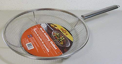 Mr. Bar-BQ 06814X Stainless Steel Mesh Grilling Skillet (2 Pack)