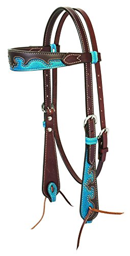 Inspired Bridle (Weaver Leather Wingtip Horse Browband Headstall, Rich)