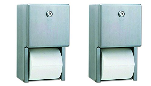 Bobrick B-2888 Classic Series Surface-Mounted Multi-Roll Toilet Tissue Dispenser, Satin (Pack of ()