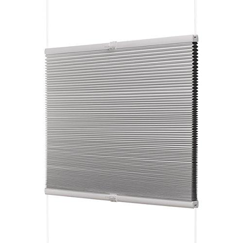 Ventanara Waben Plissee ohne Bohren Weiß verdunkelnd Klemmfix Plisseerollo Faltrollo verspannt inklusive Klemmträger 55 x 130 cm