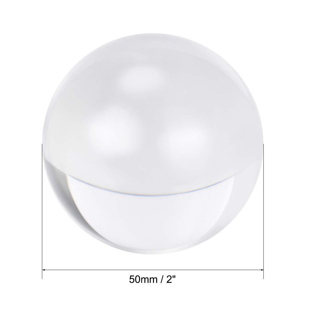 50mm Diameter Acrylic Ball Transparent//Transparent plexiglass Sphere Ornament 2 inch Solid Balls for Home Decoration