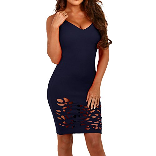 Robes D'été Décontractée Femmes Chborless Robes Sexy Pour Les Femmes Cocktail Clubwear Mini-robes Moulantes Bandage Bleu Foncé