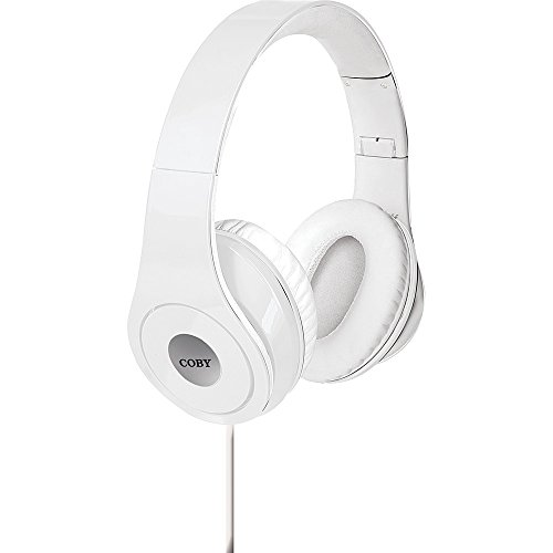 Coby White Headphone - Coby Premium Jammerz Lightweight Extra Bass Stereo Headphones