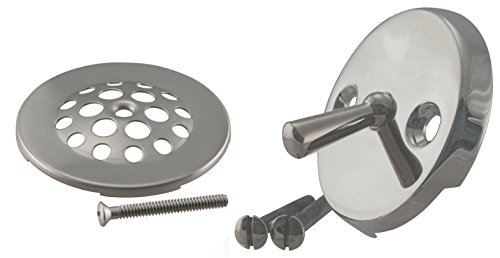 Westbrass Beehive Grid Tub Trim Grate with Trip Lever Faceplate, Satin Nickel, ()
