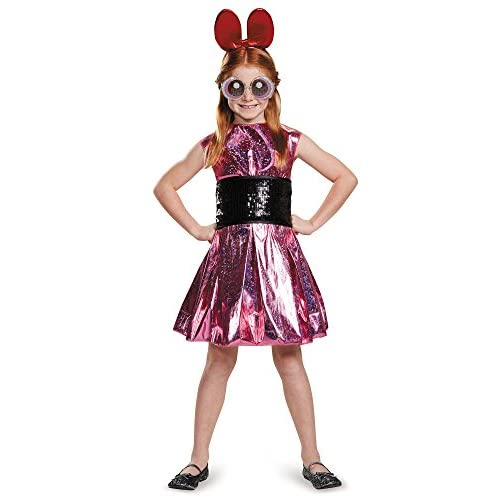 Blossom Deluxe Powerpuff Girls Cartoon Network Costume, Large/10-12