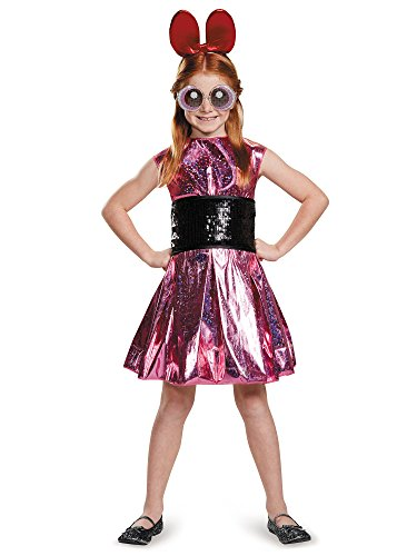 Blossom Deluxe Powerpuff Girls Cartoon Network Costume, Medium/7-8]()
