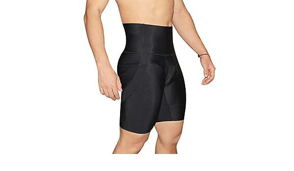 Shangly Hombres Body Shaper Pantalones Cortos Control De Barriga Fajas Adelgazantes Cintura Alta Compresion Del Abdomen Boxershorts Pantalones Ajustados Deportes Y Aire Libre Ropa Deportiva