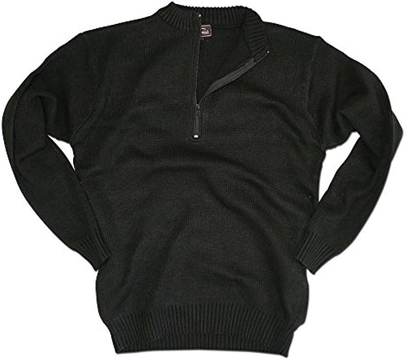 schweiz. armii sweter z zamkiem błyskawicznym Czarny - xl czarny: Odzież