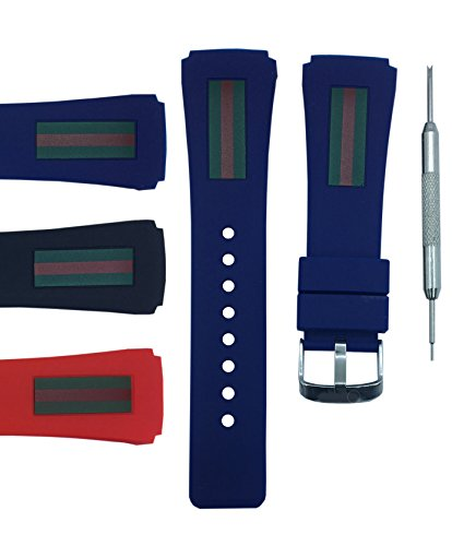22x26mm Diver Watch Band Strap - Free Spring Bar Tool (Blue)