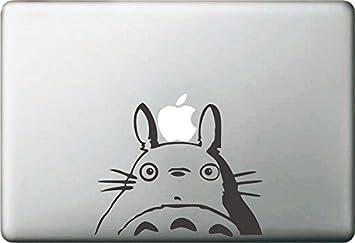 Vati hojas desprendibles de la historieta de Mi Vecino Totoro Sticker Decal Skin Arte Negro para