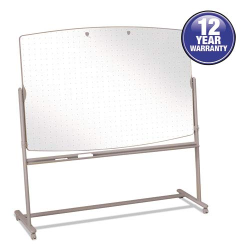 Reversible Mobile Presentation Easel, Dry-Erase, 72 x 48, White/Neutral, Sold as 1 Each ()