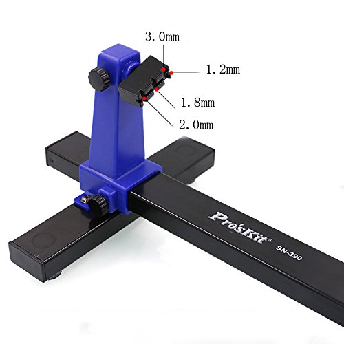 Circuit Board Holder,Pro39;sKit SN-390 Adjustable Printed Circuit Board Holder Frame PCB Soldering and Assembly Stand Clamp Repair Tool 360 Degree Rotation