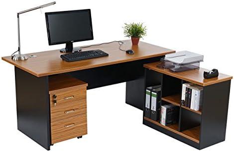 Escritorio para ordenador esquina Windsor, 160 x 150 x 75 cm ...