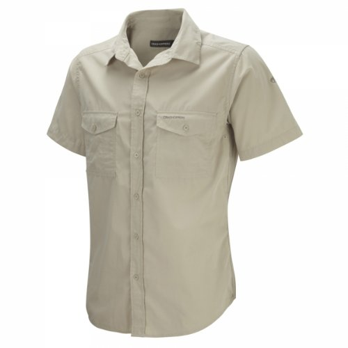 Craghoppers Herren Outdoor Reise Kiwi Kurzarm Hemd, Oatmeal, XL, CMS339   70U80