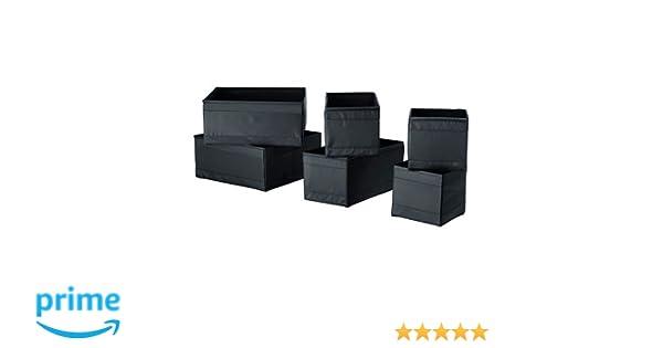 SKUBB negro, cajas de almacenamiento, 6 unidades (14 x 13 cm, 28 x 14 x 13 cm y 28 x 13 cm, 2 unidades): Amazon.es: Bricolaje y herramientas