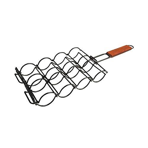 Charcoal Companion Non-Stick Adjustable Corn Grilling Basket