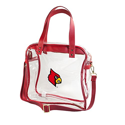 CAPRI DESIGNS CLEARLY FASHION LICENSED STADIUM COLLECTION CARRYALL TOTE---MEETS STADIUM REQUIREMENTS (University of Louisville) by CLEARLY FASHION