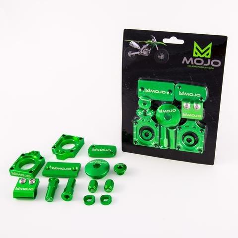 MojoMotoSport - Kawasaki Bling Kit CNC Billet Aluminum Anodized Kawasaki Green | MOJO-KAW-BKK3 ()