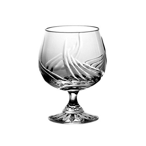 Crystaljulia 5796 Cognacglas, Bleikristall, Zwiebelmuster, handgeschliffen, 6 Stück Im Satz, 170 ml
