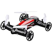 CHIMAERA Nerf Hybrid Car / Quadcopter Mini Drone 2.4GHz 4CH 6-Axis 360-Degree Eversion Function X9S (Black / Red)