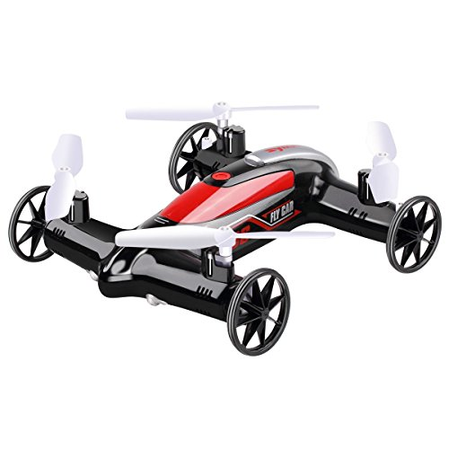 Tech RC Syma X9S Fly Car 4 Channel 2.4Ghz RC Quadcopter 6-Axis Remote Control Quadcopter Air-land Toy