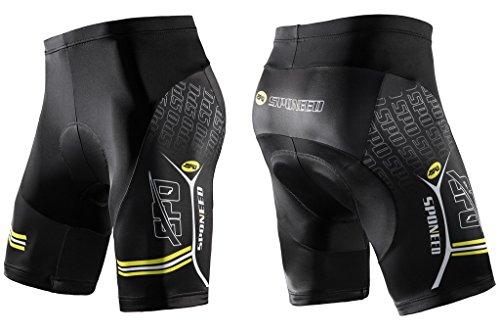 Bicycle Riding Shorts,Sponeed Men's Padded Bike Tights Half Pants Road MTB Short Asian L US M (Lycra Riding Pants)