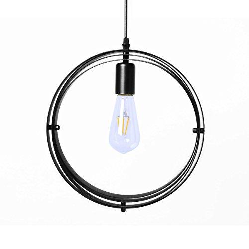 Industrial Vintage Ceiling Pendant Light, Hebolen Retro Metal ...