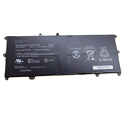 Dentsing 3170mAh 48Wh VGP-BPS40 Battery for Sony Vaio Flip SVF 15A SVF15N17CXB 14A SVF14NA1UL (Vaio Flip)