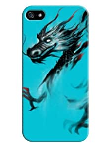 Sangu China Dinosaur Hard Back Shell Case / Cover for Iphone 5 and 5s - Bright Turquoise