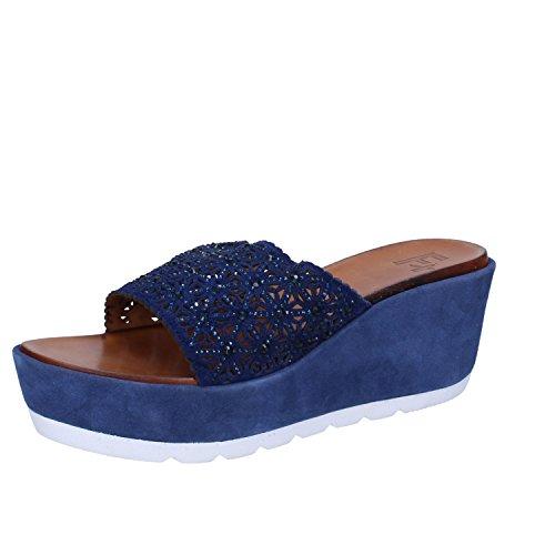 Femme Femme Chaussons Plus pour Bleu x0CCqBawv