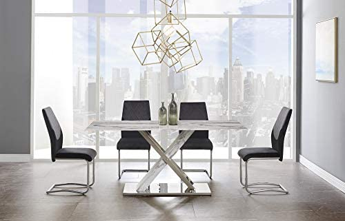 Global Furniture USA White Grey Dining Table