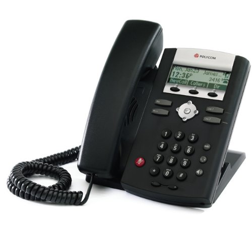 SoundPoint IP 321 Desktop Phone (2-line SIP desktop phone with single 10/100 Ethernet port and PoE support. Compatible Partner platform: 20. Country Group 1 , 6 Includes universal power supply, with NA power plug.) (Part#: 2200-12360-001 ) - NEW