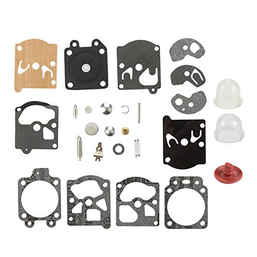 (Mannial K10-WAT Carburetor Rebuild Kit Gasket Diaphragm fit WA WT Series Walbro Carb STIHL Husqvarna McCulloch Echo Chainsaw Edger Trimmer)