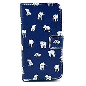 Zaki-Indian Elephant Design PU Leather Full Body Case with Stand for Samsung Galaxy S4 I9500