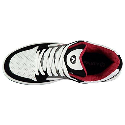 da Rosso Bianco Throttle Sn Nero Airwalk Scarpe skate Uomo CL82 vqXxCw4CH