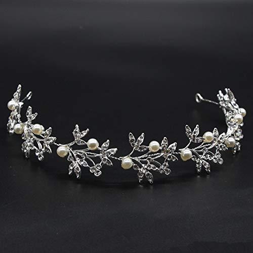 Wedding Headband Hair Vines, Bridal Hair Accessories Bridal Wedding Crystals Jewelry Decorative Wedding Headpiece with 13 Inch Long Hair Vine for Brides and Bridesmaids