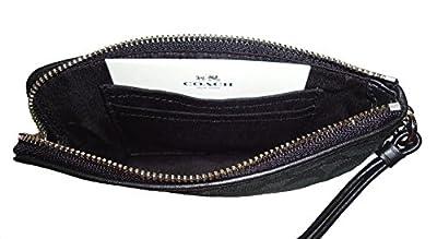 Coach F54627 Outline Signature Corner Zip Wallets & Wristlets Black/Black