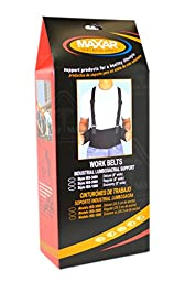 Maxar Work Belt - (Industrial Lumbo-Sacral Support) - Standard, Large