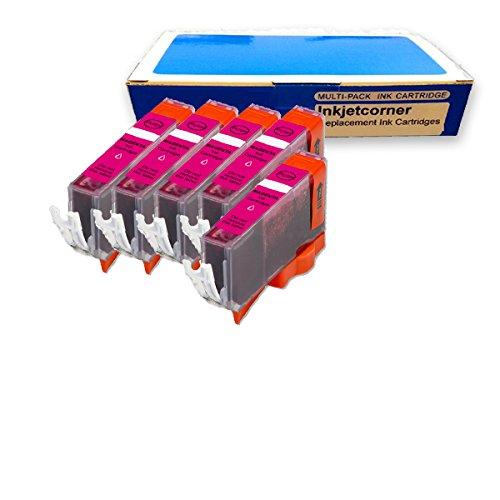 Inkjetcorner 5 MAGENTA Compatible Ink Pack for CLI-226M CLI-226 Canon iP4820 iP4920 MG5120 MG5220 MG5320 MG6120 MG6220 MG8120 MG8220 MX882 MX892 MX712