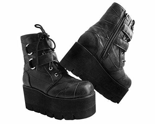 T.U.K. Nero O-Ring Cinturino Cravatta Trattore di Avvio Shoes Donna EU41/UKW8