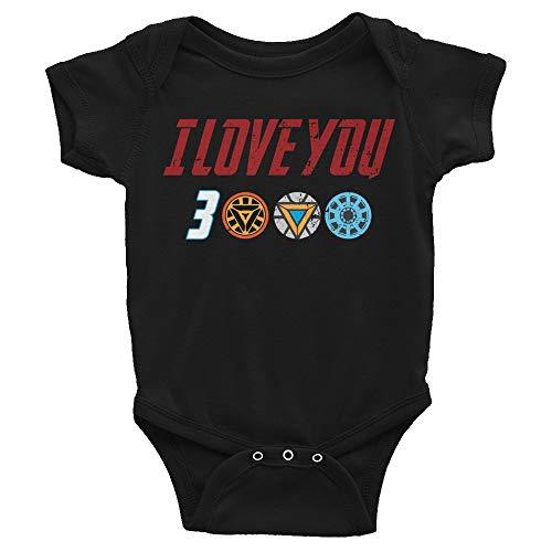 I Love You 3000 Infant Bodysuit Endgame Bodysuit Avengers Iron Man Black