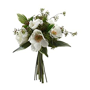 "13"" Anemone/Viburnum Berry Bouquet White (pack of 6) 44"