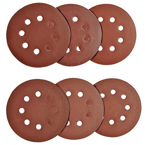 60 Pcs Sanding Discs 5 inch 8 Holes Hook and Loop Sandpaper Disc -600/800/1000/1200/1500/2000 Grit Assorted Orbital Sander Round Sandpaper