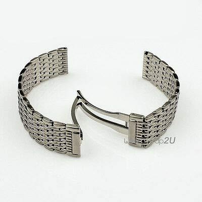 (FidgetKute Stainless Steel Wrist Watch Band Bracelet Hidden Deployment Clasp 18mm )