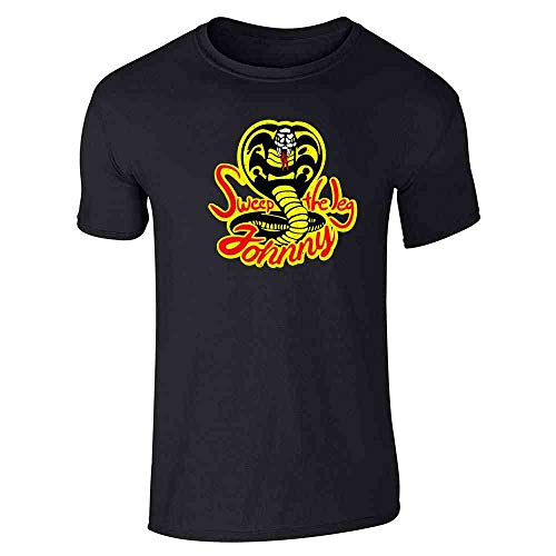 Sweep The Leg Johnny Cobra Kai Karate Kid 80s Black XL Short Sleeve T-Shirt -