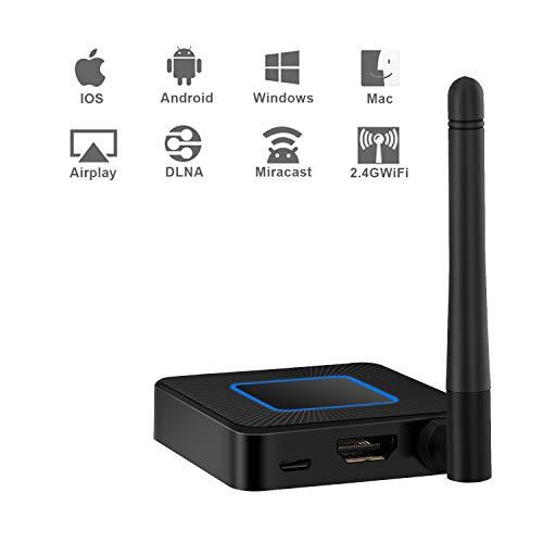 Miracast Dongle, BEHEART 2 4G WiFi Display Dongle, Wireless