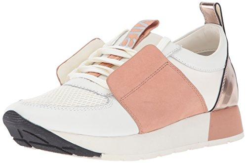 Dolce Vita Womens Yana Sneaker White/Nude Leather