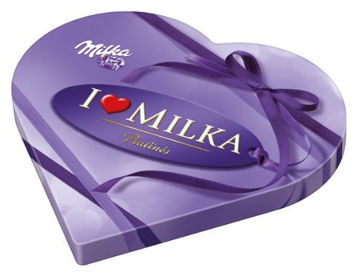 Milka I Love Milka Nougat Pralines in Heart Shape Gift Box (187g)