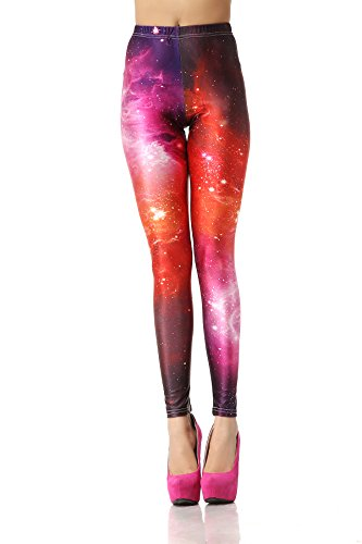 Fashion 3D Digital Printed Leggings Colorful Galaxy Leggings Women Pants