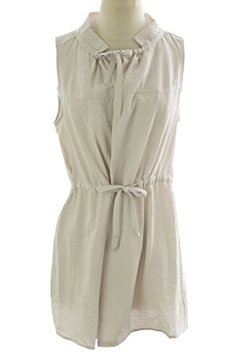 August Silk Women's Sleeveless Drawstring Tunic Medium Island Breeze Drawstring Silk Tunic